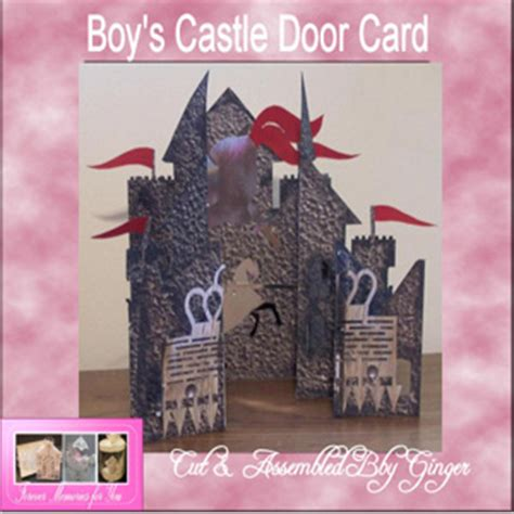 Concertina Cards Templates by Craft Robo Gsd File Template Boys Castle Concertina Card
