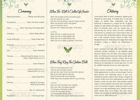 Wedding Brochure Exles by Wedding Programs Templates Free Tri Fold Wedding