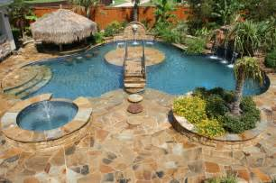 Backyard Paradise Pools Backyard Paradise Tropical Pool Dallas By El Dorado Pools