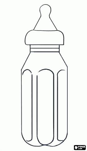 coloring page baby bottle baby bottle container with a nipple or teat that is used