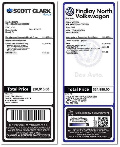 Addendum System For Car Dealers Dealeraddendums Inc Free Addendum Sticker Template