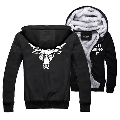 Hoodie Rock dwayne johnson thick cotton padded jacket just bring it winter warm flannel hoodie coats the