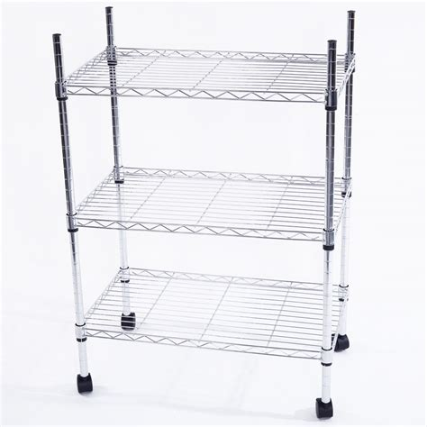34x24x14 quot 3 tier shelf adjustable wire metal shelving rack