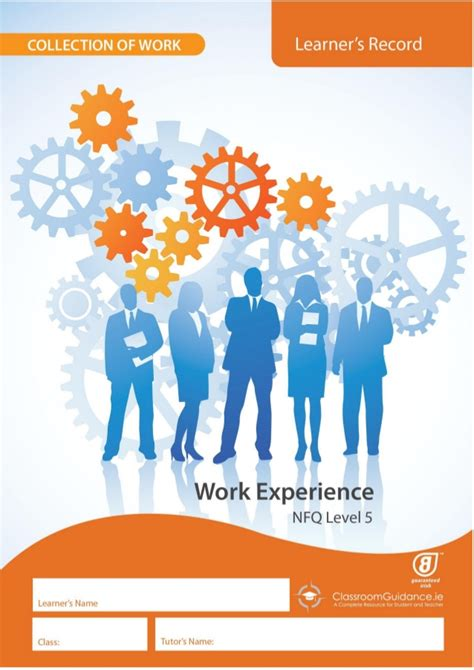 layout for work experience diary work experience level 5 learner s record