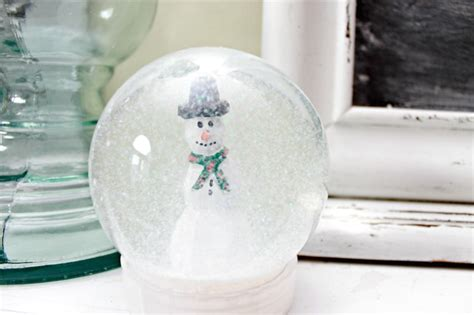 Snow Globe Handmade - snow globe day 6 of 12 days of