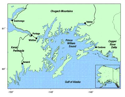 location of prince william sound alaska prince of wales
