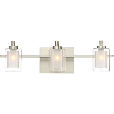 Modern Bathroom Light Fixture by Quoizel Klt8603bnled Kolt Modern Brushed Nickel Led 3