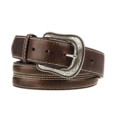 shop s gem dandy leather belt with silver concho