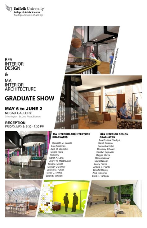 graduate programs interior design bfa interior design ma interior architecture graduate