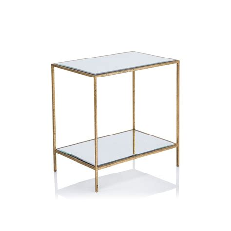 gold rectangle side table sinclair rectangular side table side tables furniture