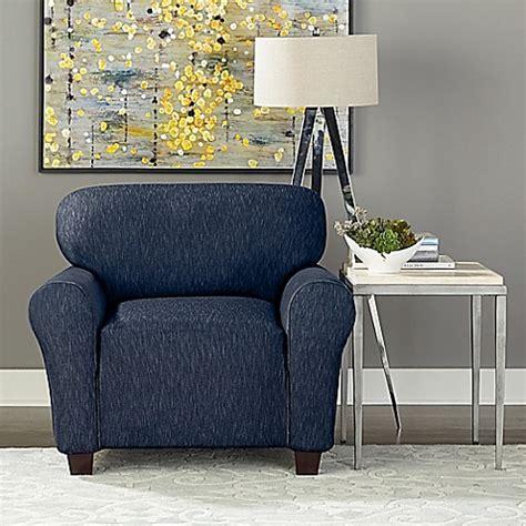 denim chair slipcovers sure fit 174 designer denim 1 piece chair slipcover bed