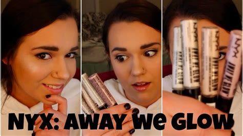 Nyx Away We Glow nyx away we glow review demo and swatches