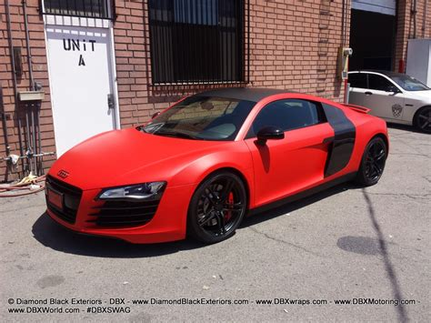 wrapped r8 audi r8 wrapped in matte red by dbx black