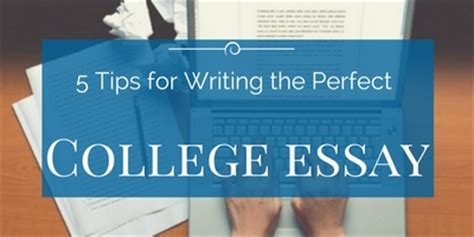 5 tips on how to write the college essay