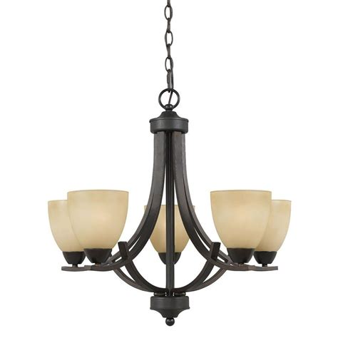 Filament Design Galeri 5 Light Bronze Chandelier 8000 03 Dining Room Light Fixtures Home Depot