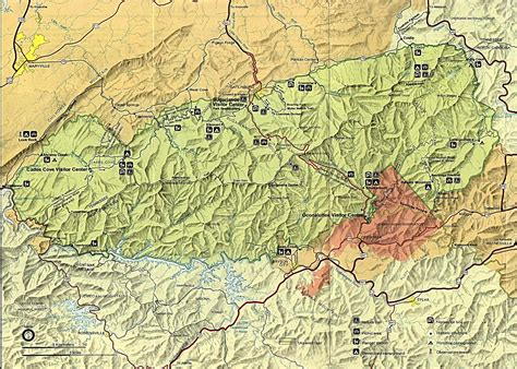 great smoky mountains national park map tennessee maps perry casta 241 eda map collection ut library