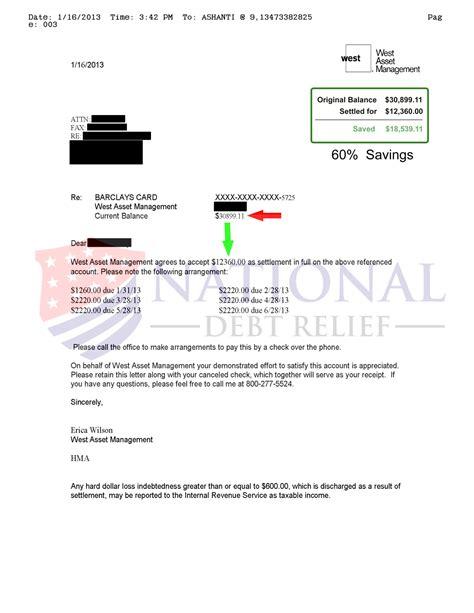 Dave Ramsey Credit Card Settlement Letter Debt Settlement Letters