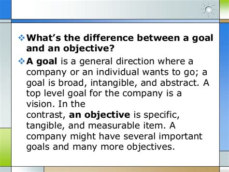 vision and goals vs strategy map and objectives