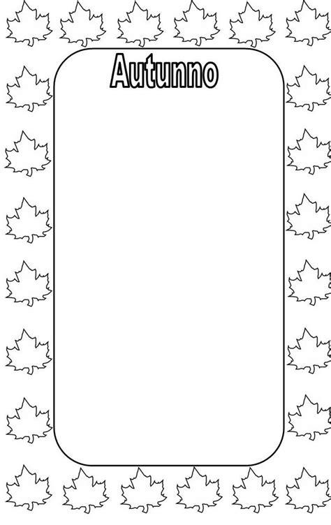 cornici autunno cornicette autunno da colorare cornicette autunno