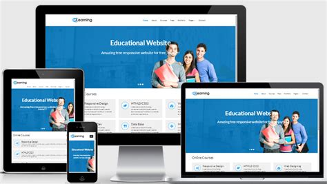 Free Educational Responsive Web Template Elearning Free Responsive Templates