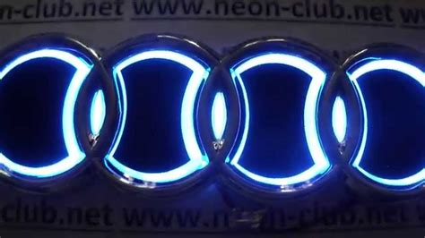 Light Up Car Emblems by 5d Style Stickers Blue Led Stylish Car Logo Rear Badge