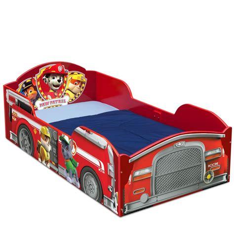 toddler bed boy toddler bed frame paw patrol girls boys kids bedroom furniture wooden wood red ebay