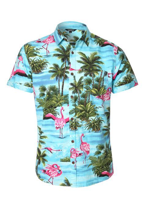 Flamingo Longsleeve Shirt 1 peacocks mens sleeve flamingo print shirt button up hawaiian style ebay