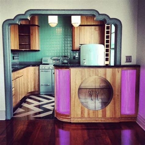 art deco kitchen design art deco kitchen miami more retro than i usually like
