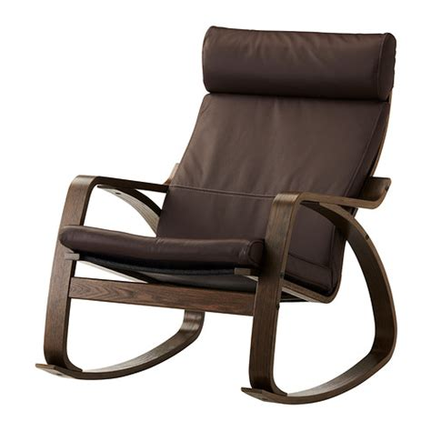 Brown Rocking Chair by Po 196 Ng Rocking Chair Glose Brown