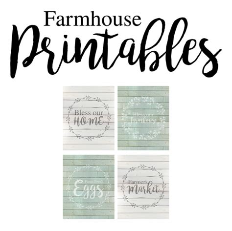 printable home decor free farmhouse style printables the shabby creek cottage