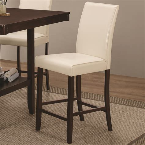 counter height upholstered chairs upholstered counter height chair by coaster wolf and