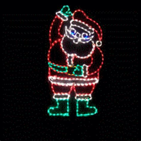animated holographic santa light sculpture lighted animated waving santa
