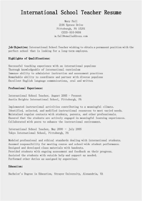 high school teacher resume resume