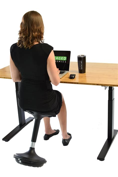 adjustable standing desk amazon uncaged ergonomics wobble stool adjustable chair black