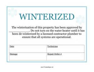 printable winterized sign sign