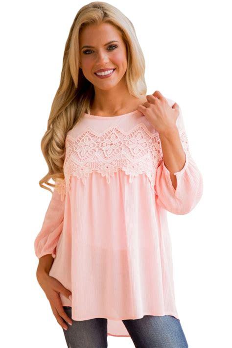 Babydoll Top us 7 48 pink crochet detail sleeve babydoll top dropshipping