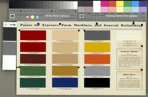 international harvester paint chart print wisconsin historical society
