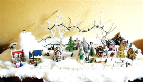 christmas village snow blankets with lights christmas decorations snow blanket www indiepedia org