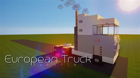 minecraft truck minecraft vehicle tutorials european truck minecraft