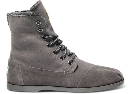canvas mens boots toms ash canvas suede utility boot in gray for ash
