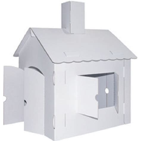 haus aus karton c kreul haus aus karton kinderspielhaus papphaus ohne