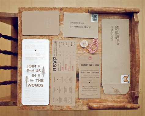 diy wedding invitations christine ian s diy lasercut woodland wedding invitations