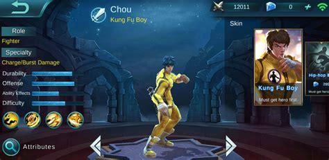 chou mobile legend mobile legends chou build guide fgr