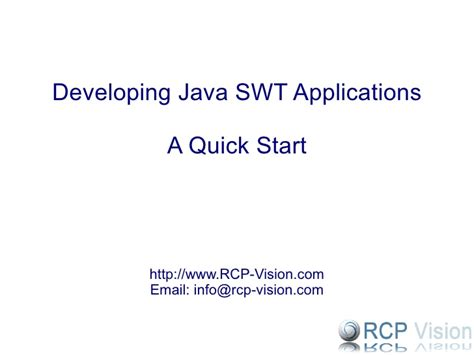 java swing vs swt developing java swt applications a starter