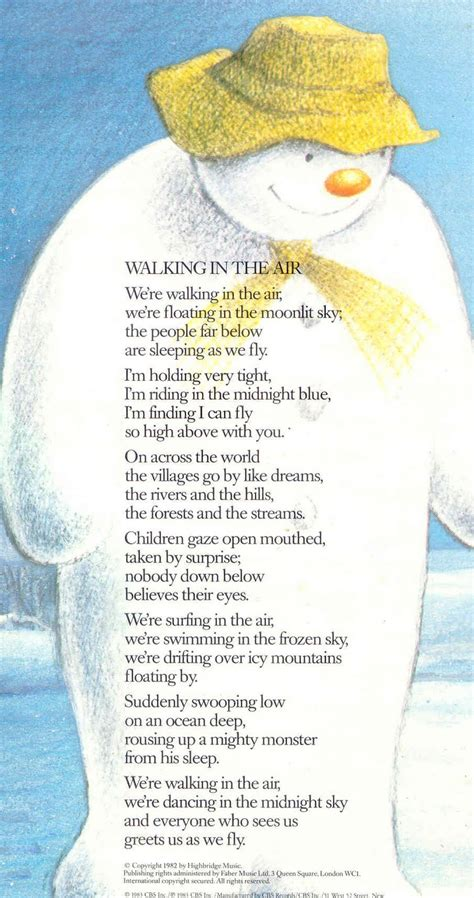 walking the lyrics walking in the air new calendar template site
