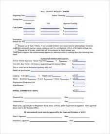 sample travel request form 9 free documents download in