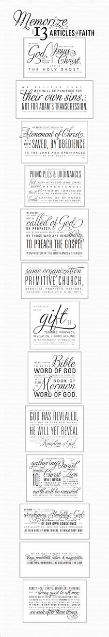printable articles of faith lds activities and ideas on pinterest book of mormon