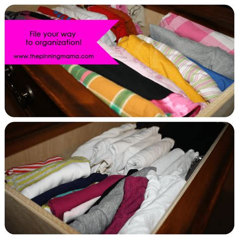 organize by filing your clothes the pinning