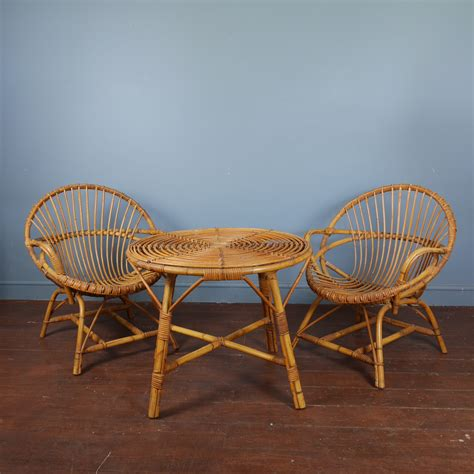 Coffee Table And Chairs Vintage Rattan Coffee Table And Chairs Jeffreyandday