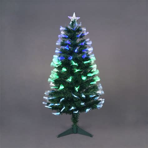 4ft starbright fibre optic tree with 130 green white